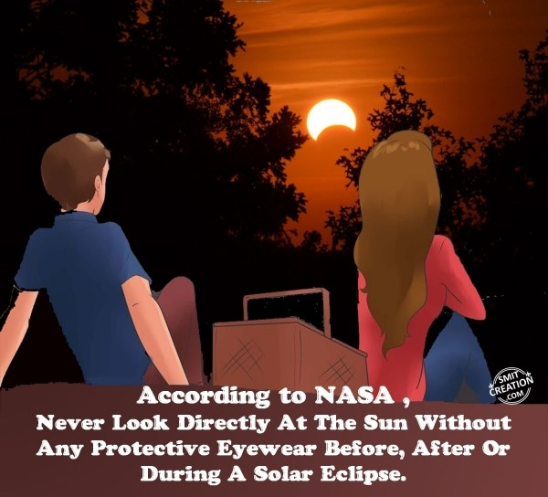 Don'ts in Solar Eclipse