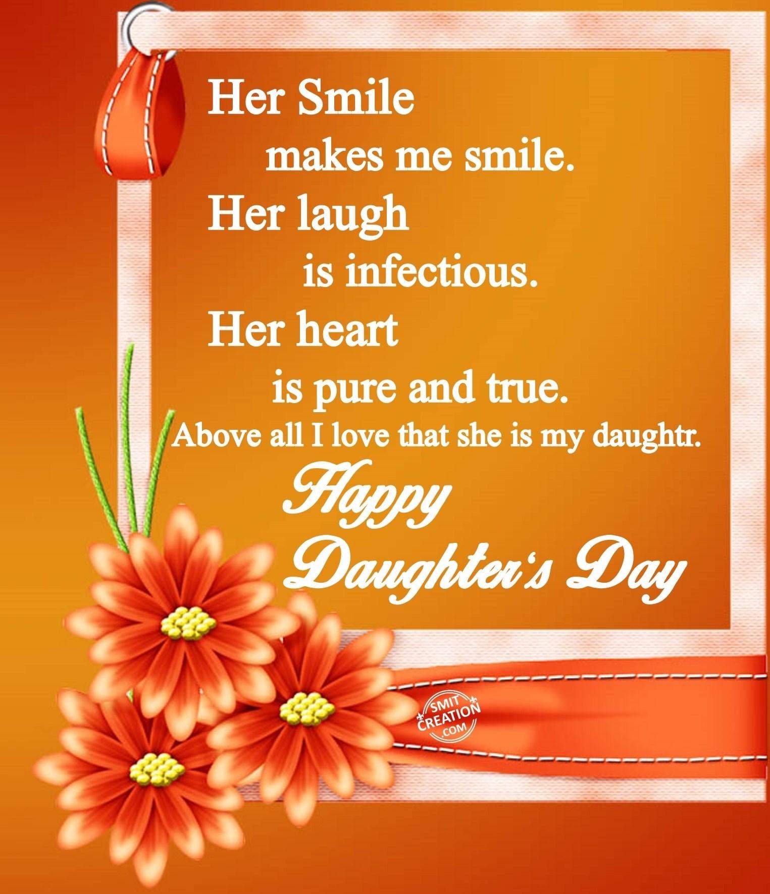 Happy Daughter's Day - SmitCreation.com