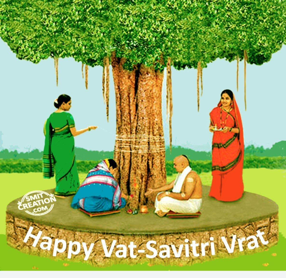Happy Vat-Savitri Vrat - SmitCreation.com