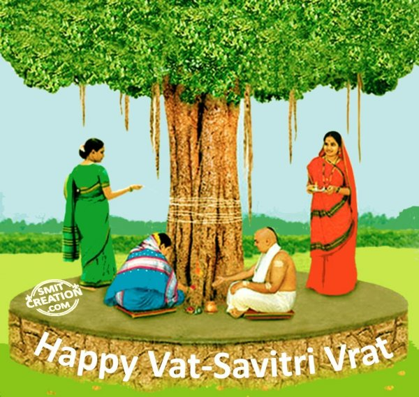 Happy Vat-Savitri Vrat  IMAGES, GIF, ANIMATED GIF, WALLPAPER, STICKER FOR WHATSAPP & FACEBOOK