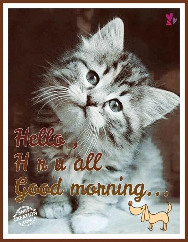 Hello Hru all Good Morning...