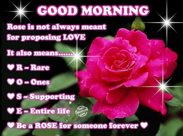 Good Morning Wishes Rose