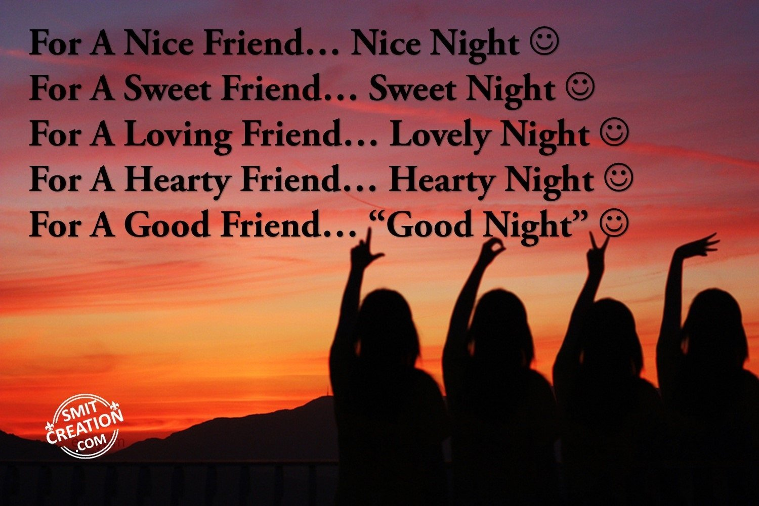 Good Night Friends Pictures And Graphics Smitcreationcom Page 9