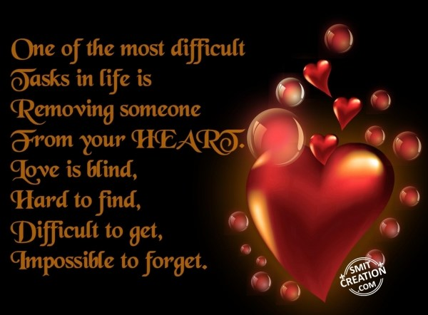 IMPOSSIBLE TO FORGET WHO ARE IN HEART