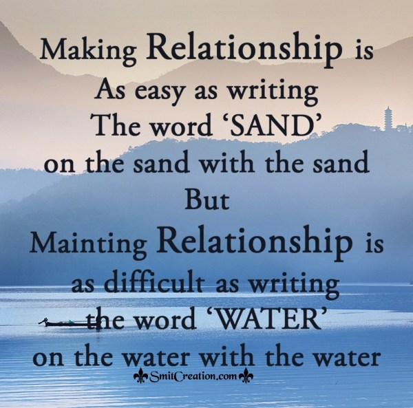 Making and Mainting Relationship