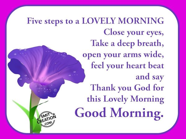 Lovely Morning..!