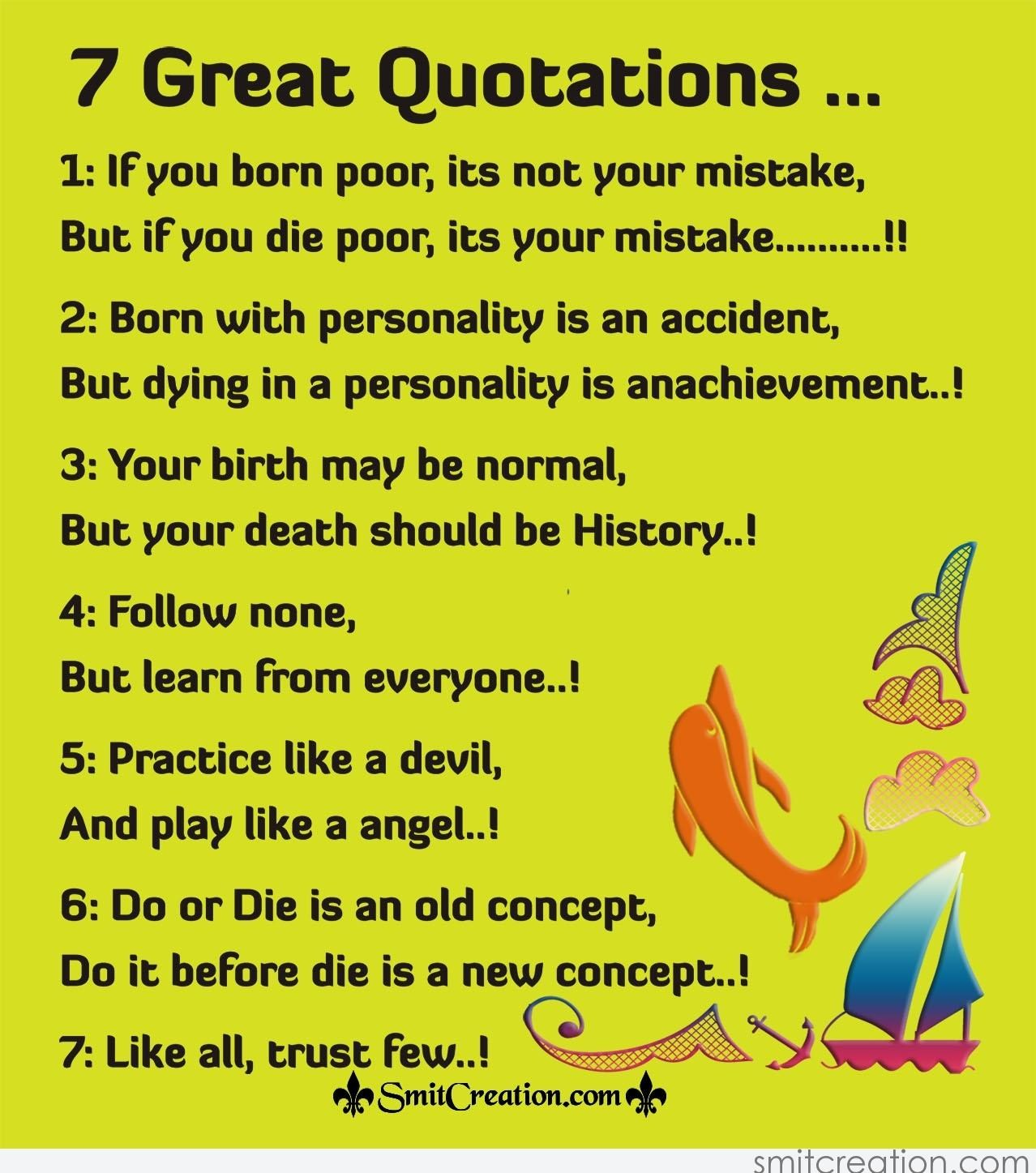 Great Quotations 7 Great Quotations  Smitcreation