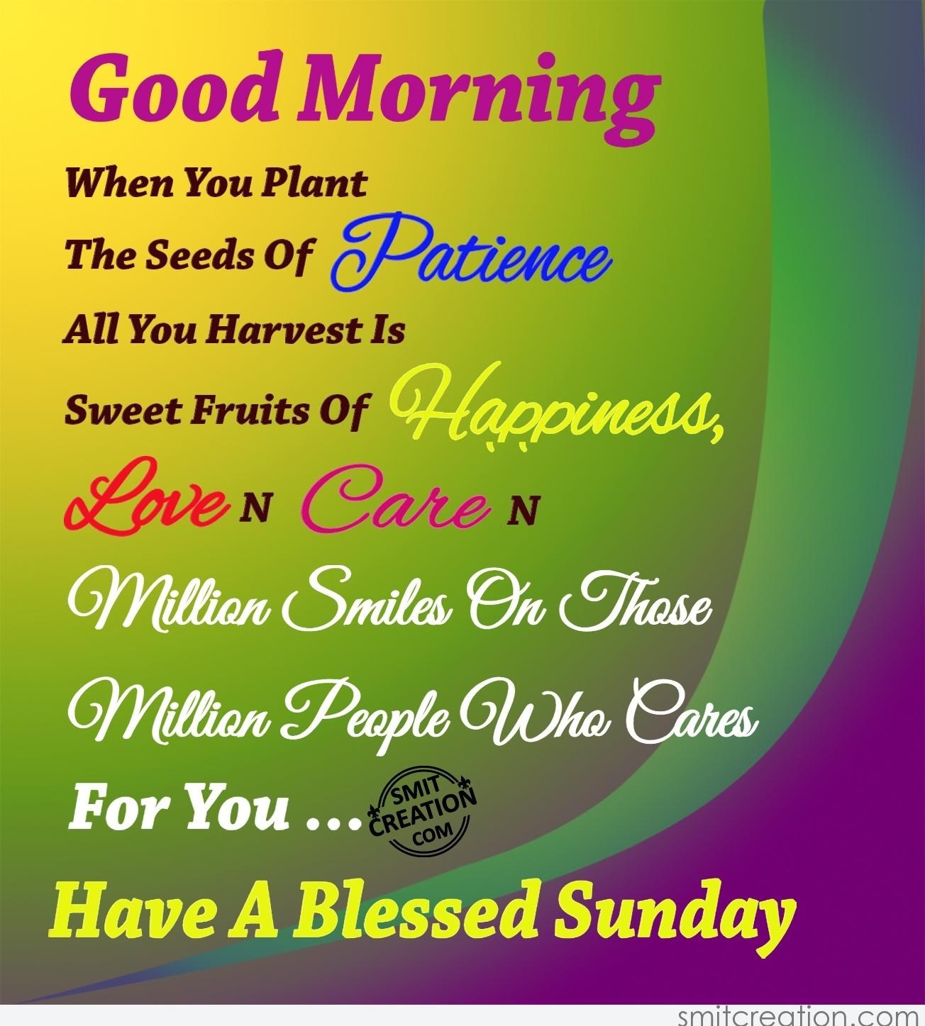 Good Morning Have A Blessed Sunday Smitcreationcom