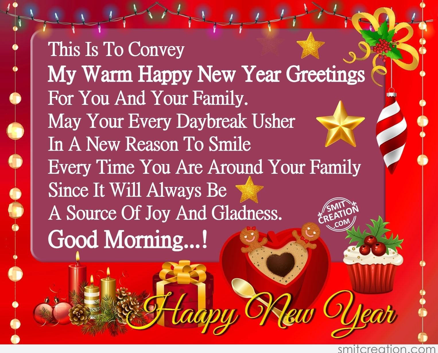 Good Morning New Year Greetings 2019 New Year Images