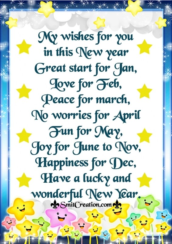 Have a lucky and wonderful New Year