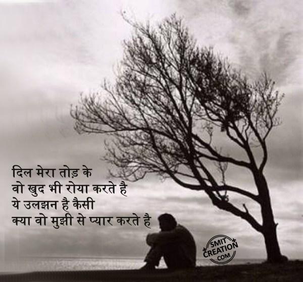 Dil mera todke, Woh khud bhi roya karte hai