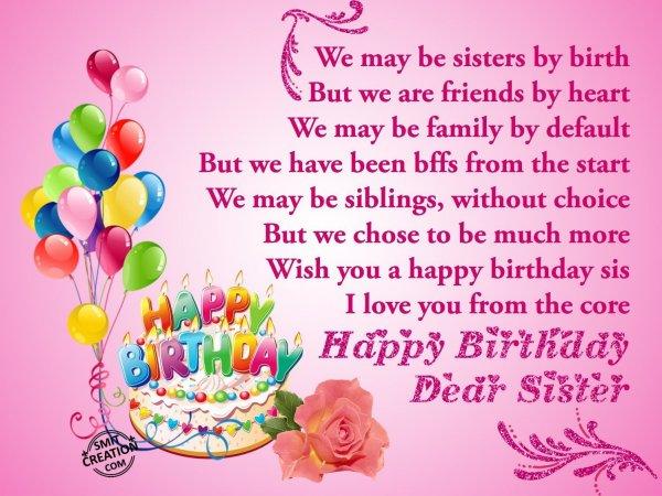 Happy birthday dear sister smitcreation com