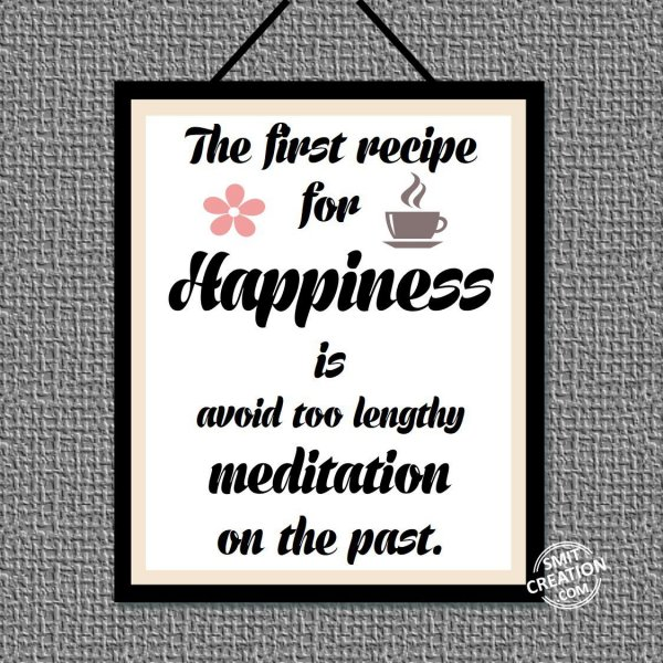 The First Recipe For Happiness