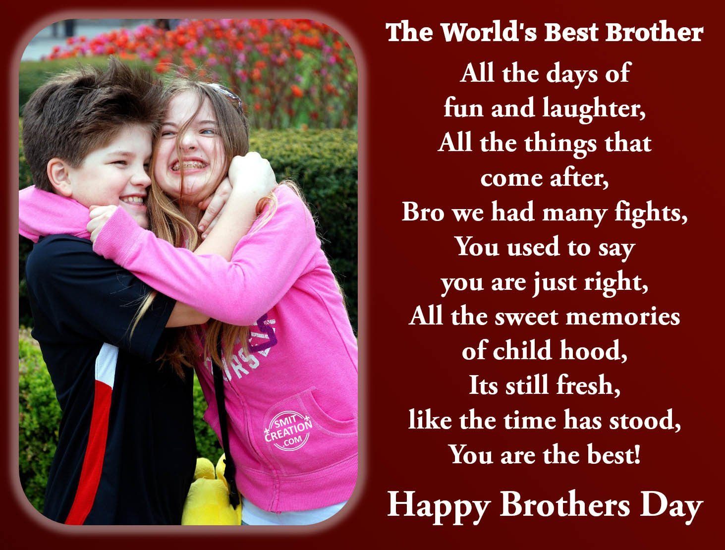 Happy Brothers Day - SmitCreation.com