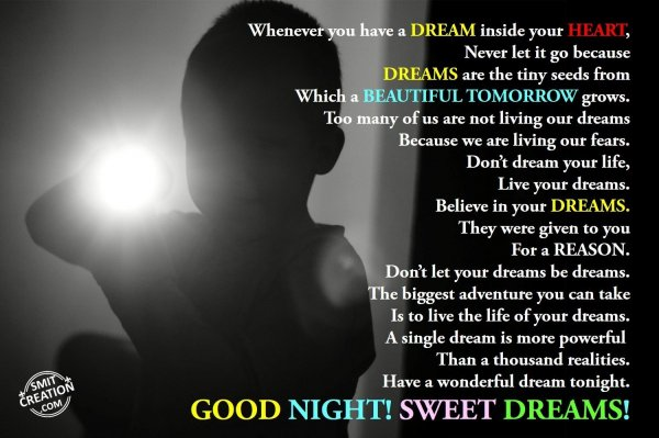 How to have a good dream tonight