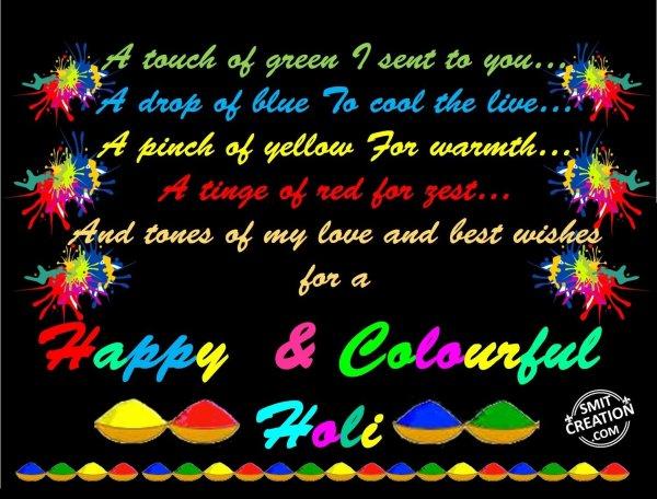 Happy  & Colourful Holi