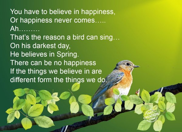 Believe in Happiness