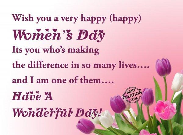 Wish you a very happy happy Women's Day