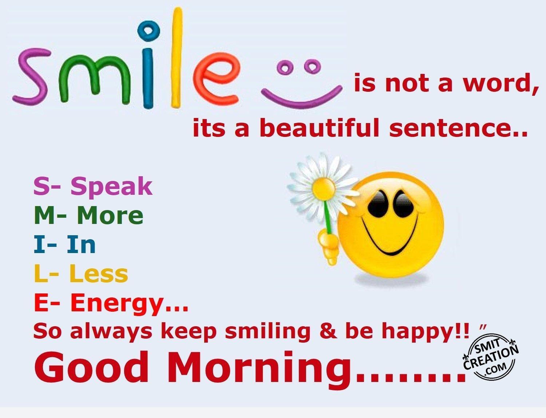 Good Morning Smile Pics : Good morning smile pictures and graphics smitcreation
