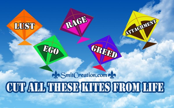 CUT ALL THESE KITES FROM LIFE