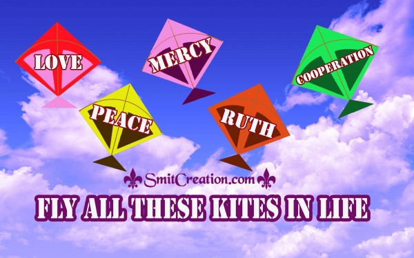 FLY ALL THESE KITES IN LIFE