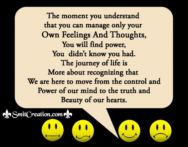 Manage Your Own Feelings And Thoughts