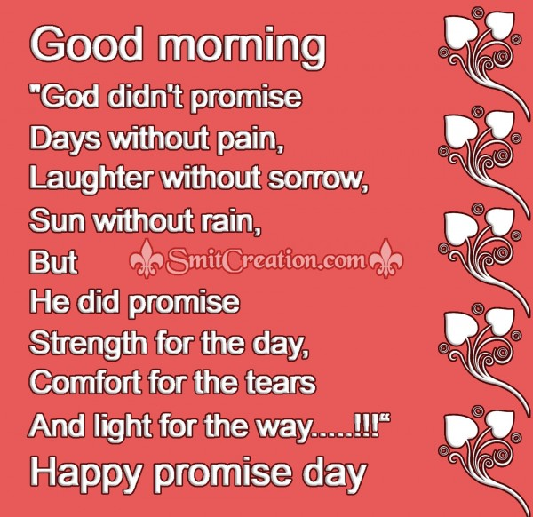 Good morning Happy promise day Images