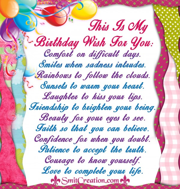 This Is My Birthday Wish For You