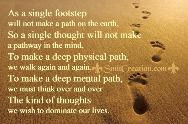 As a single footstep