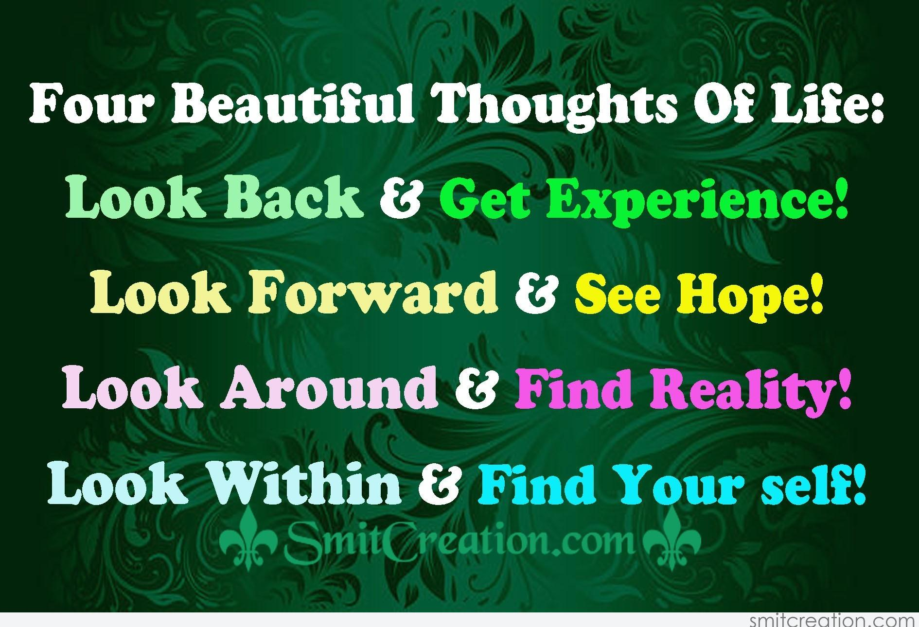 Four Beautiful Thoughts Of Life - SmitCreation.com