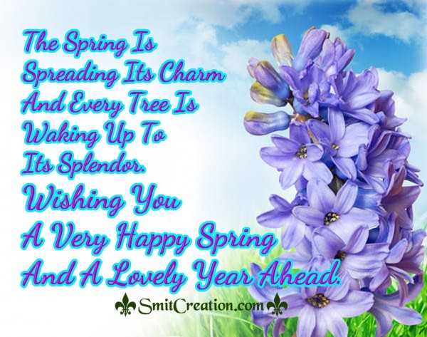 A Very Happy Spring  And A Lovely Year Ahead