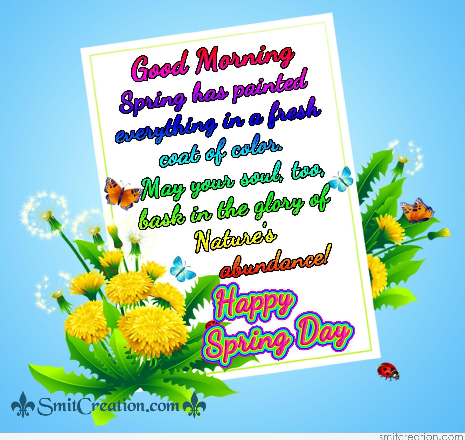 Good Morning Happy Spring Day - SmitCreation.com