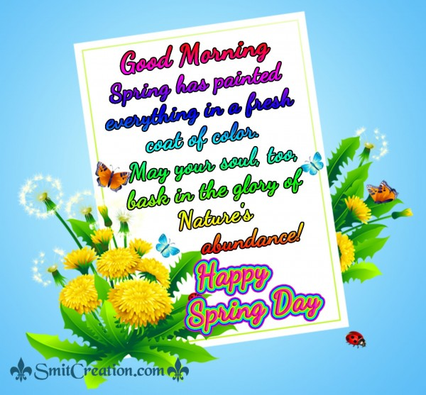 Good Morning Happy Spring Day