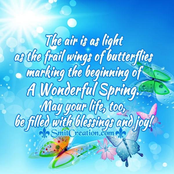 A Wonderful Spring