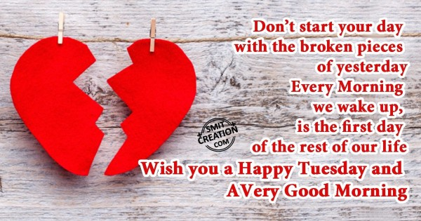 Happy Tuesday and a Very Good Morning