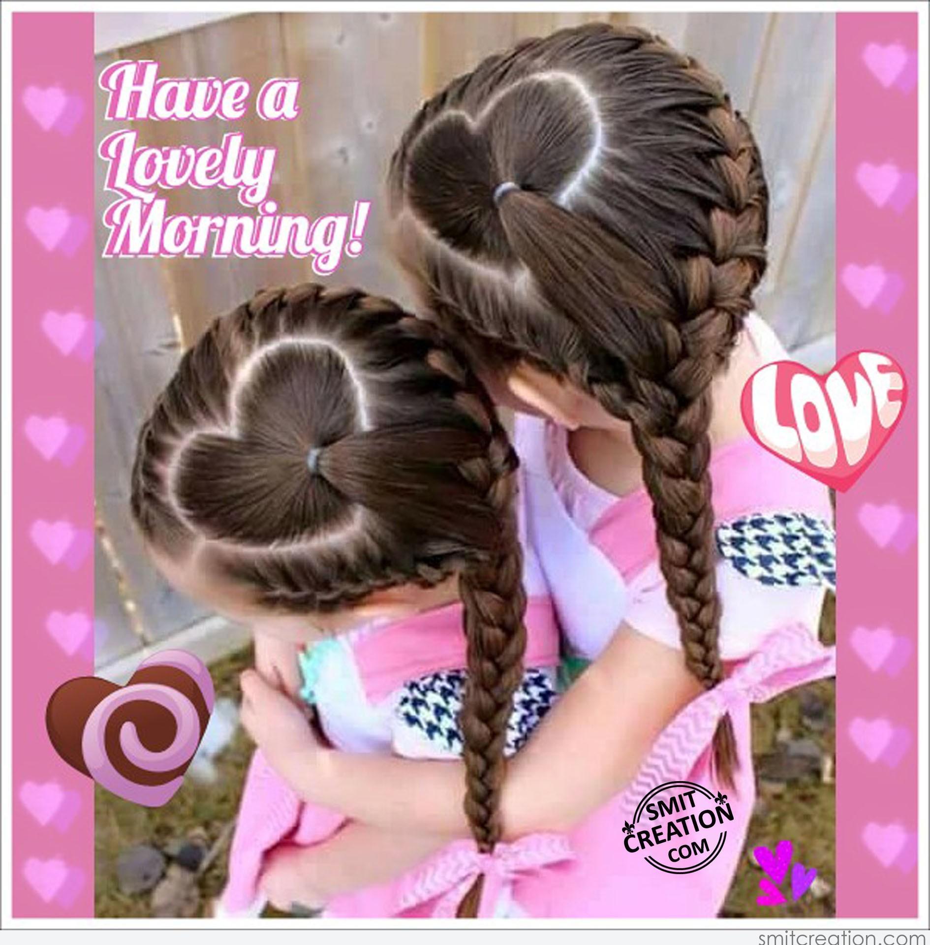 Фото прически для девочек сердце