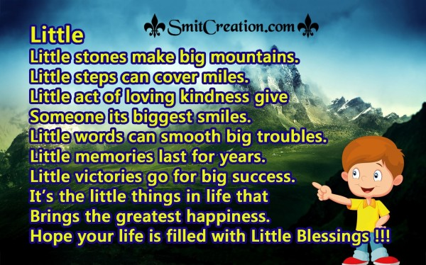 Little Blessings !!!