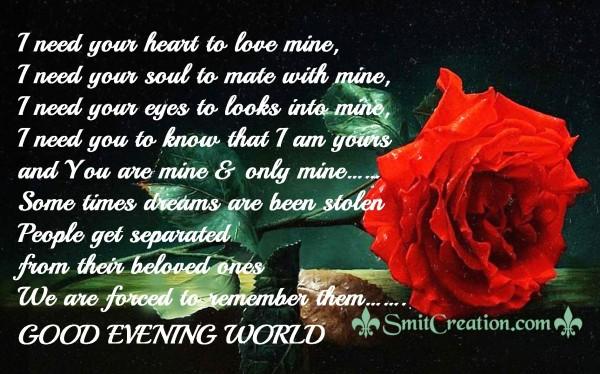 Good Evening World