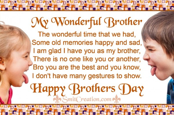 My Wonderful Brother – Happy Brothers Day