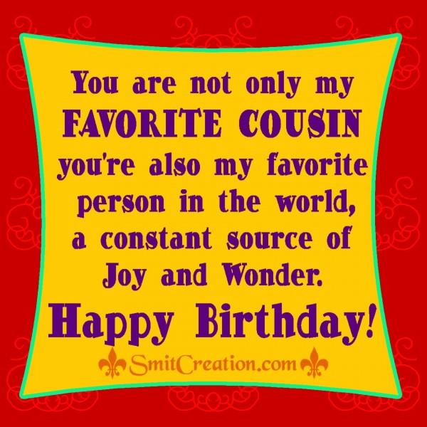Happy Birthday! – My Favourite Cousin