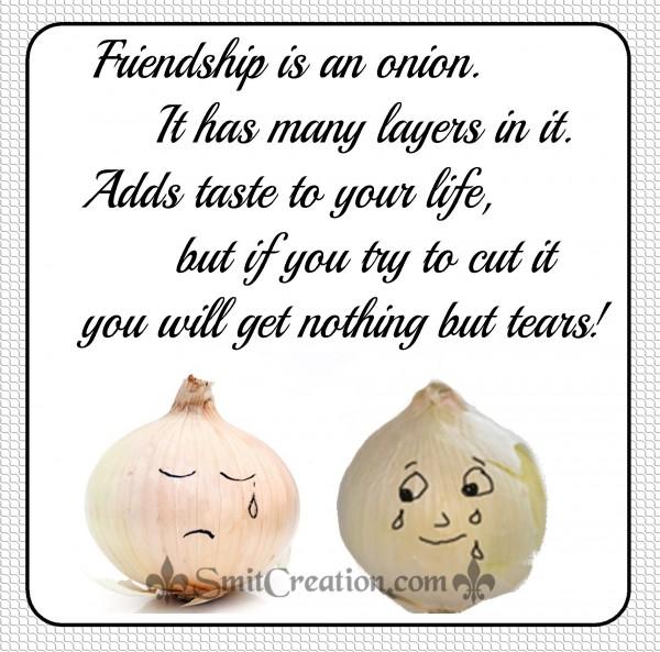 Friendship is an onion