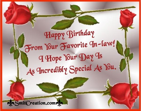 Happy Birthday Dear Father-In-Law