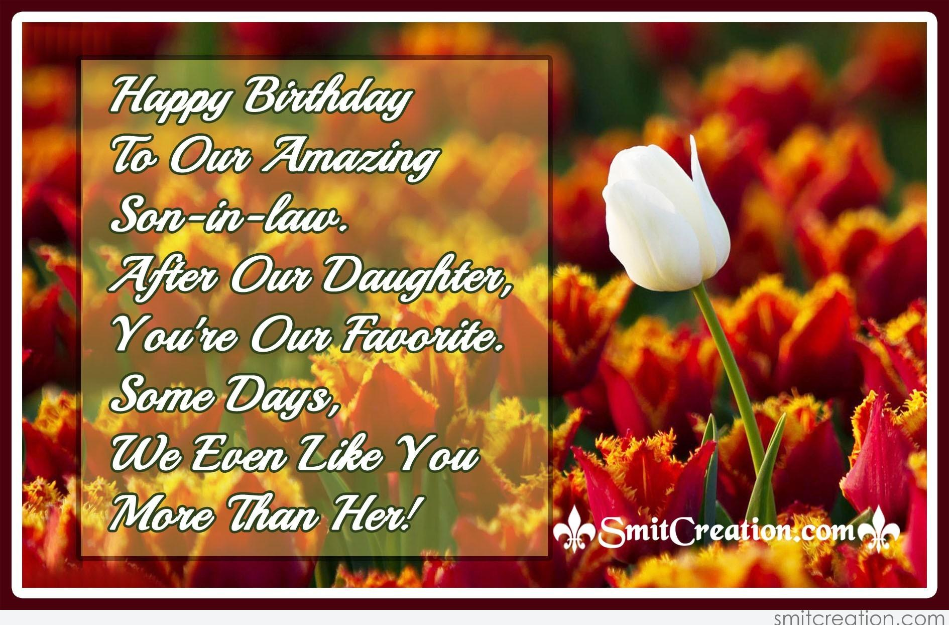 Happy Birthday Wishes For Son In Law: Birthday Wishes For In-Law Pictures And Graphics