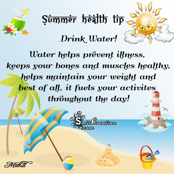 Summer Health Tip – Drink Water