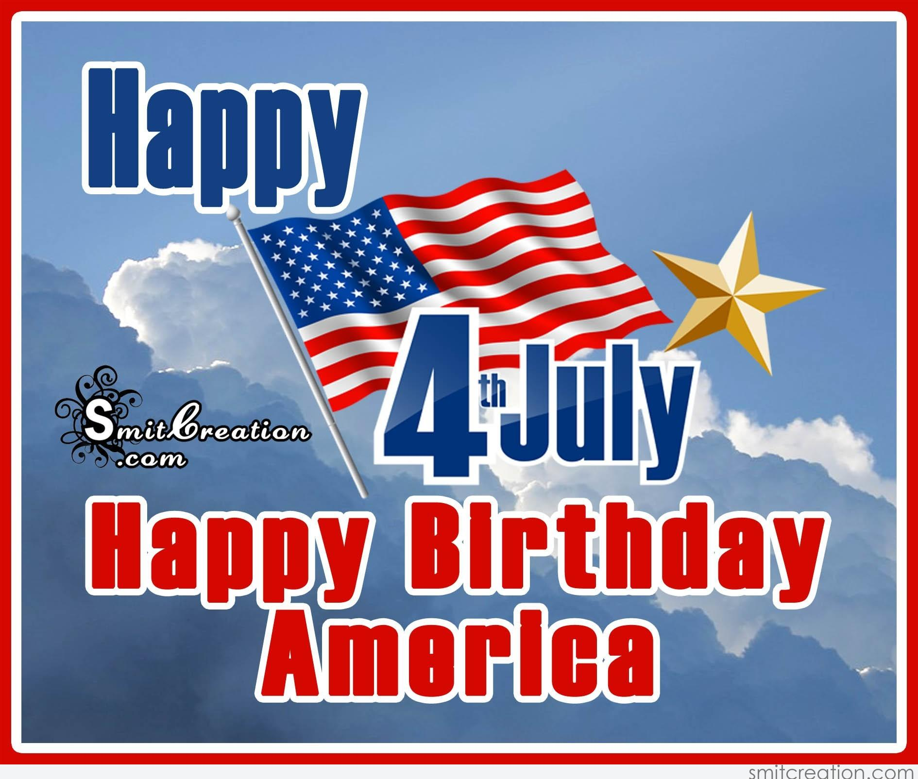 Happy 4th July Happy Birthday America Smitcreation Com