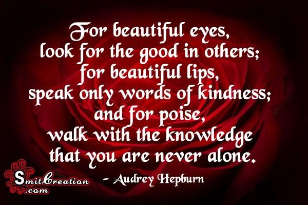 Speak only words of kindness
