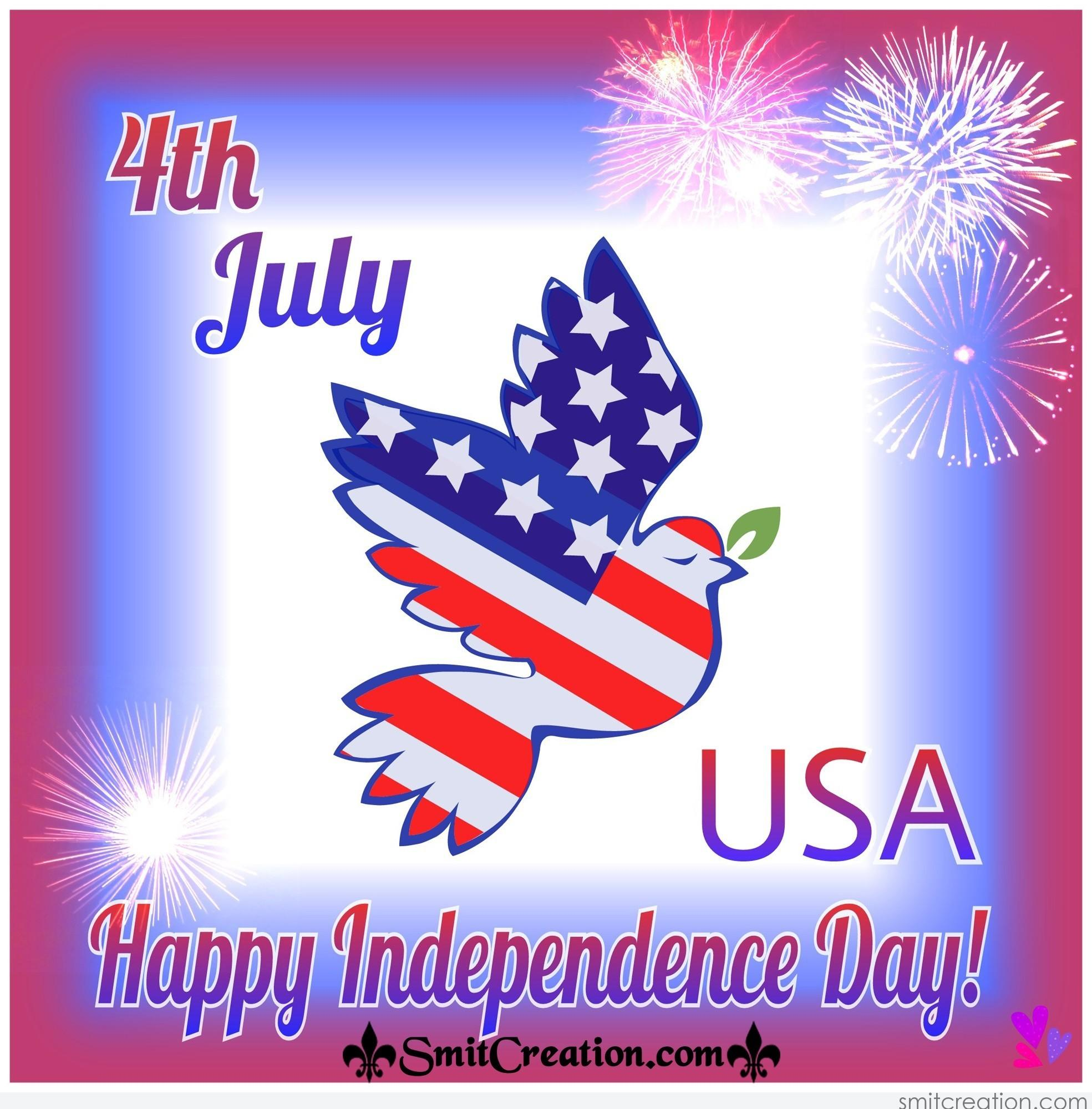 4th July Happy Independence Day Of Usa Smitcreation