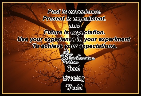 Good Evening World – Achieve your expectations