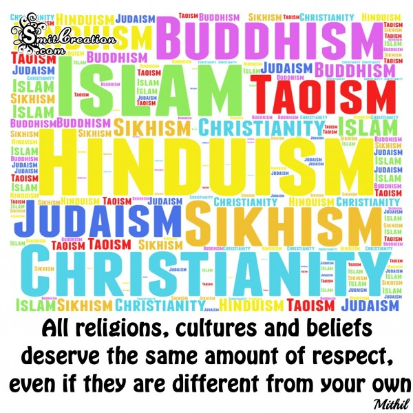 All religions deserve the same amount of respect