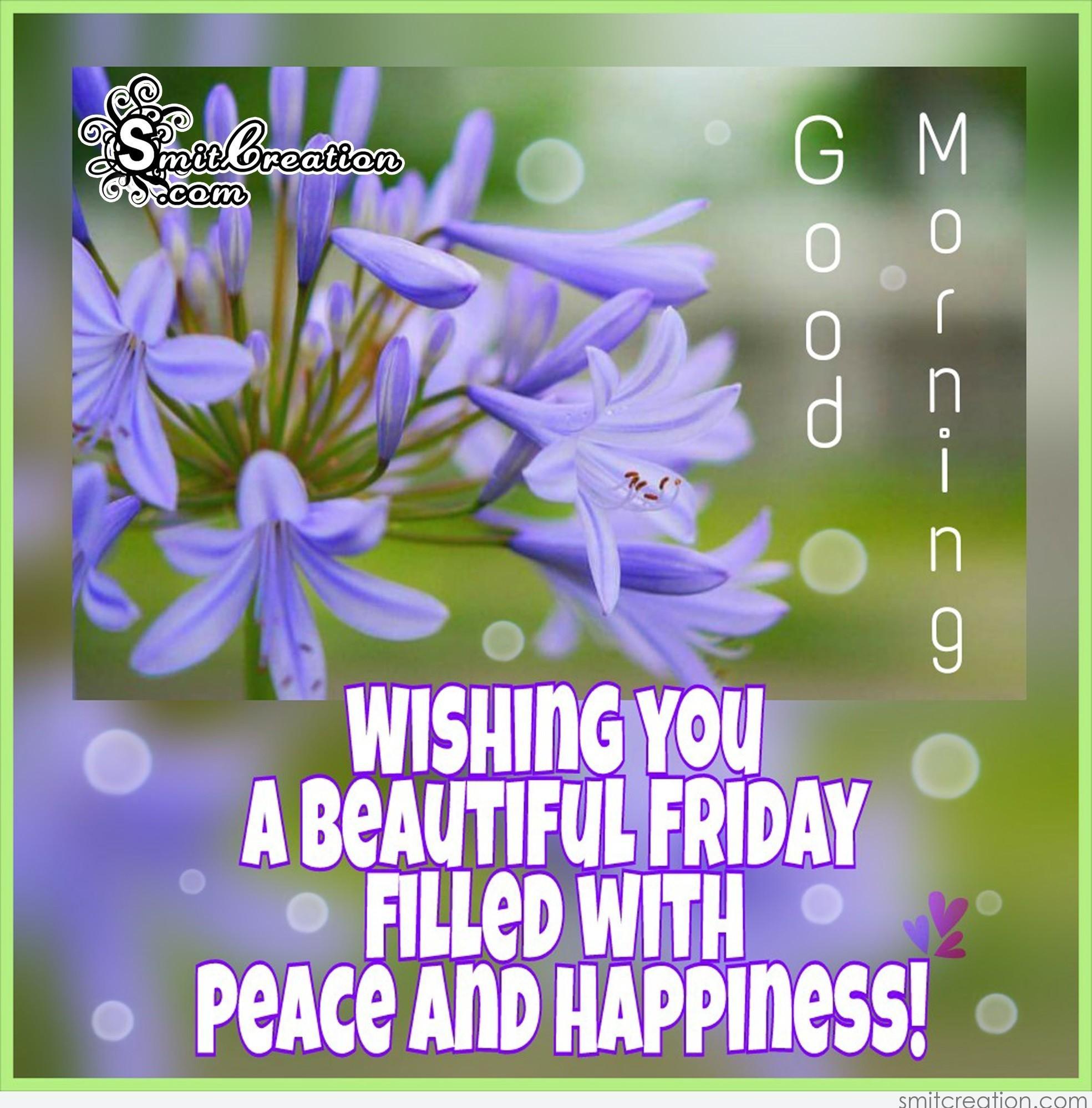 good morning wishing you a beautiful friday